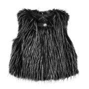 Image of 3 Pommes Girls Black Fur Waistcoat