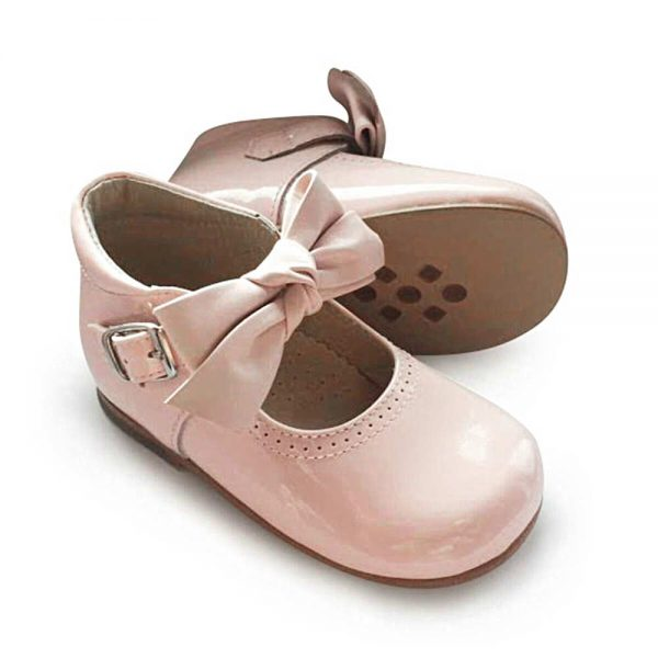 Image of Girls Pink Patent Leather Panyno Shoes