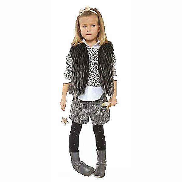 Image of Little Girl Wearing 3 Pommes Childrens designer clothes