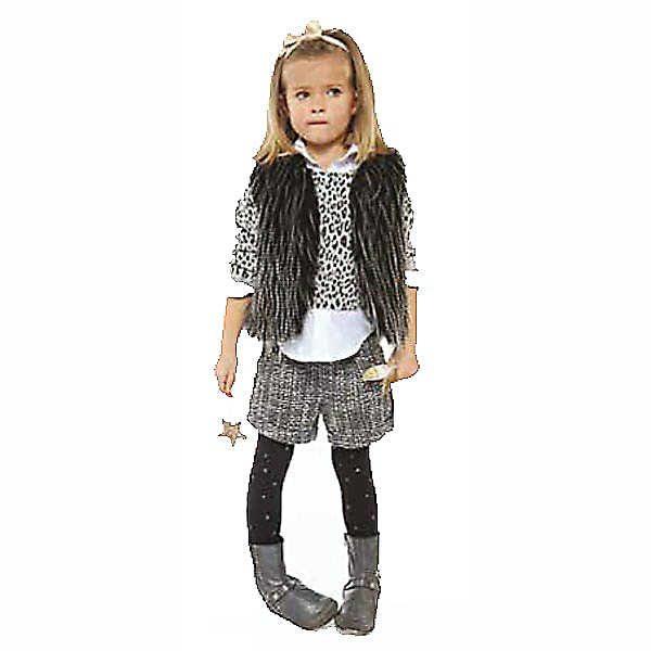 Image of Little Girl Wearing 3 Pommes Childrens designer clothes