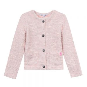 3 Pommes Girls Peach Cardigan