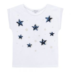 3 Pommes Girls Star Print White T-shirt