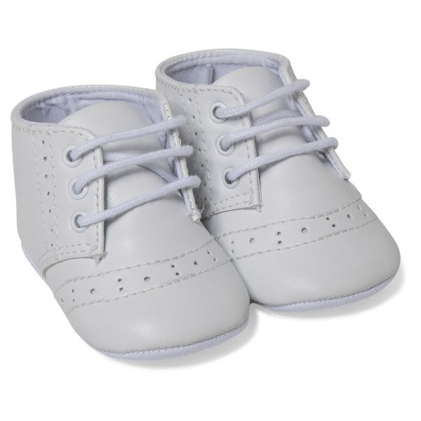 Absorba Baby Boys White Pre-Walking Shoes