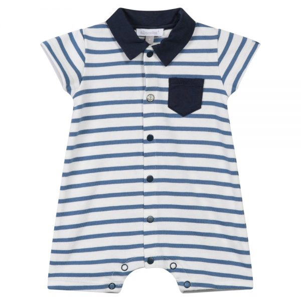 Absorba Baby Boys Blue Stripe Romper