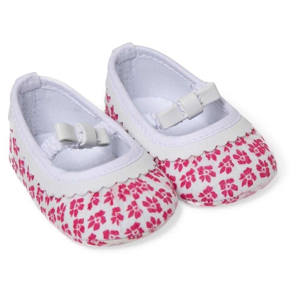 Absorba Baby Girls Pink Floral Pre-Walker Shoes