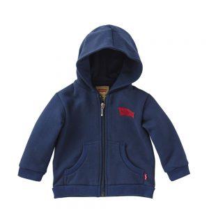 Levis Baby Boys Navy Blue Zip-Up Jersey Hoodie