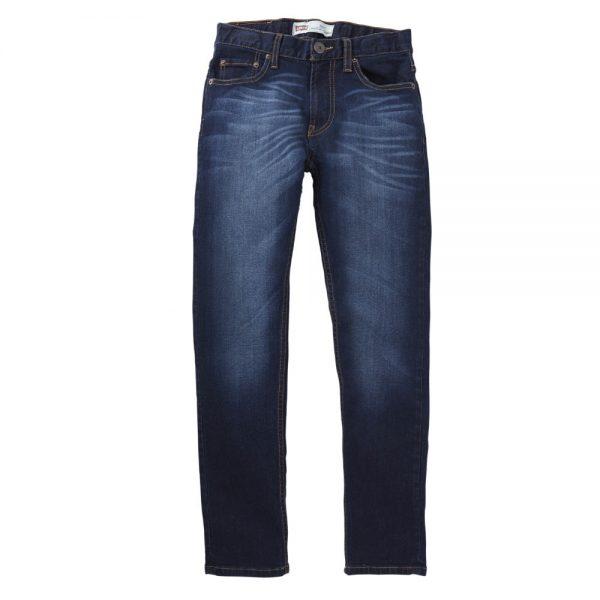 Levis Boys Dark Blue Denim Jeans Taper Fit 508