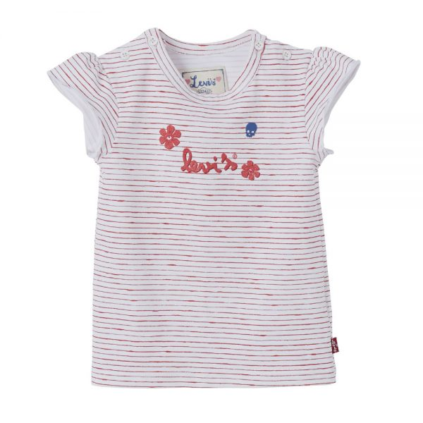 Image of Levis Baby Girls Pink Stripe T-shirt