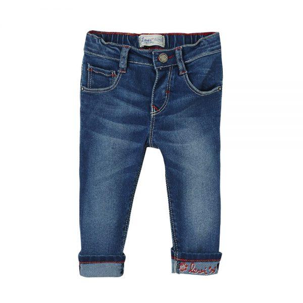 Levis baby girls blue denim slim leg jeans