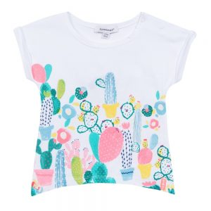 3 Pommes Baby Girls Cactus Print T-shirt