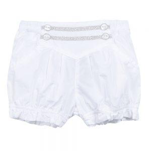 3 Pommes Baby Girls White Shorts