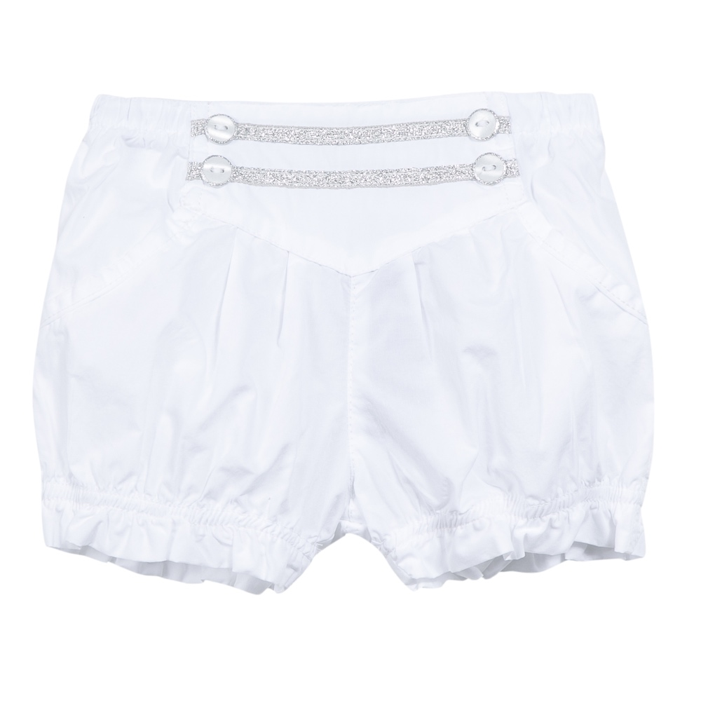 3 Pommes Baby Girls White Shorts | Bumpalumpa.com