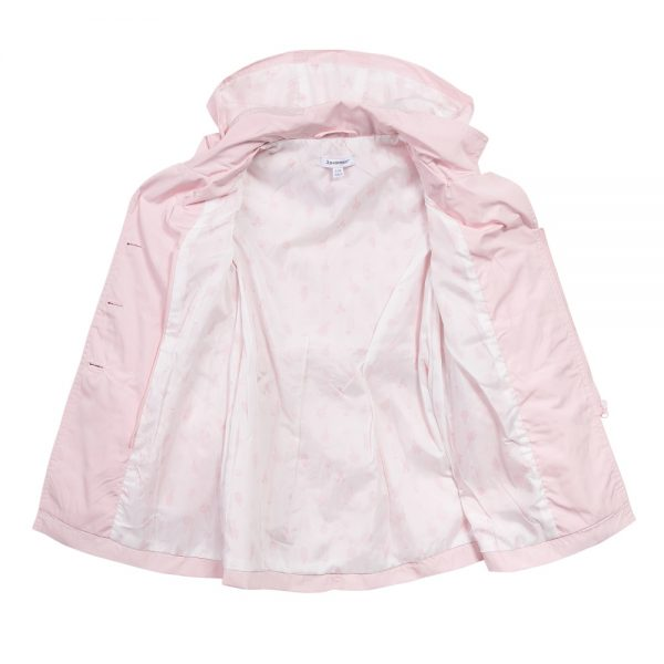 3 pommes girls pink raincoat open image.