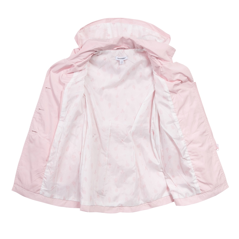 3 pommes girls pink raincoat open image.
