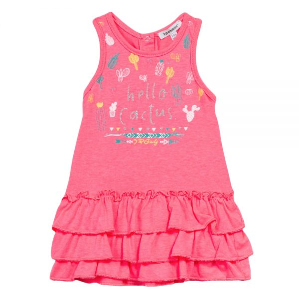 3 Pommes Baby Girls Pink Jersey Dress