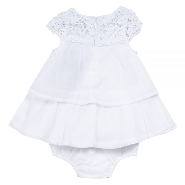 3 Pommes Baby Girls White Lace Dress Bumpalumpa Com