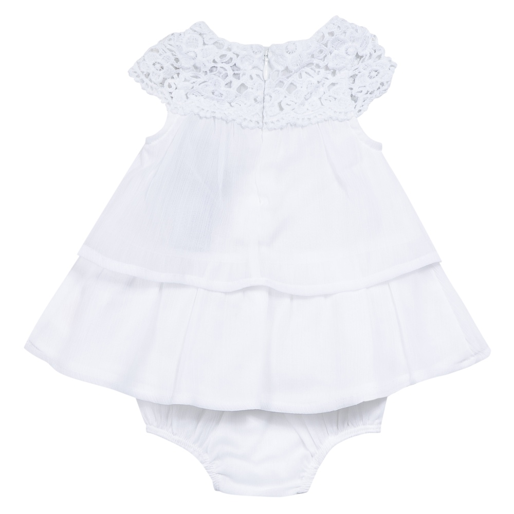 3 pommes baby girls white lace dress
