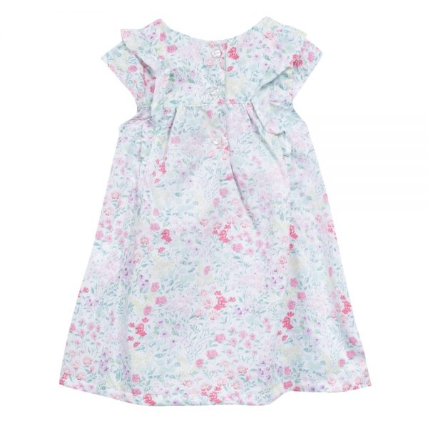 3 Pommes Baby Girls Pink Floral Summer Dress