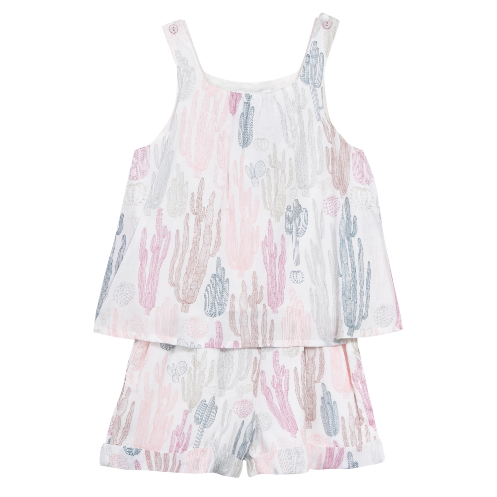 3 Pommes Girls Pink Playsuit