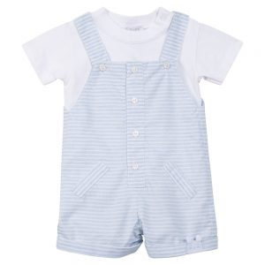 Absorba Baby Boys Blue & White Dungarees
