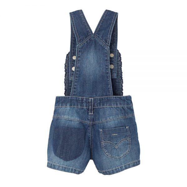 Levi's Baby Girls Denim Dungaree Shorts