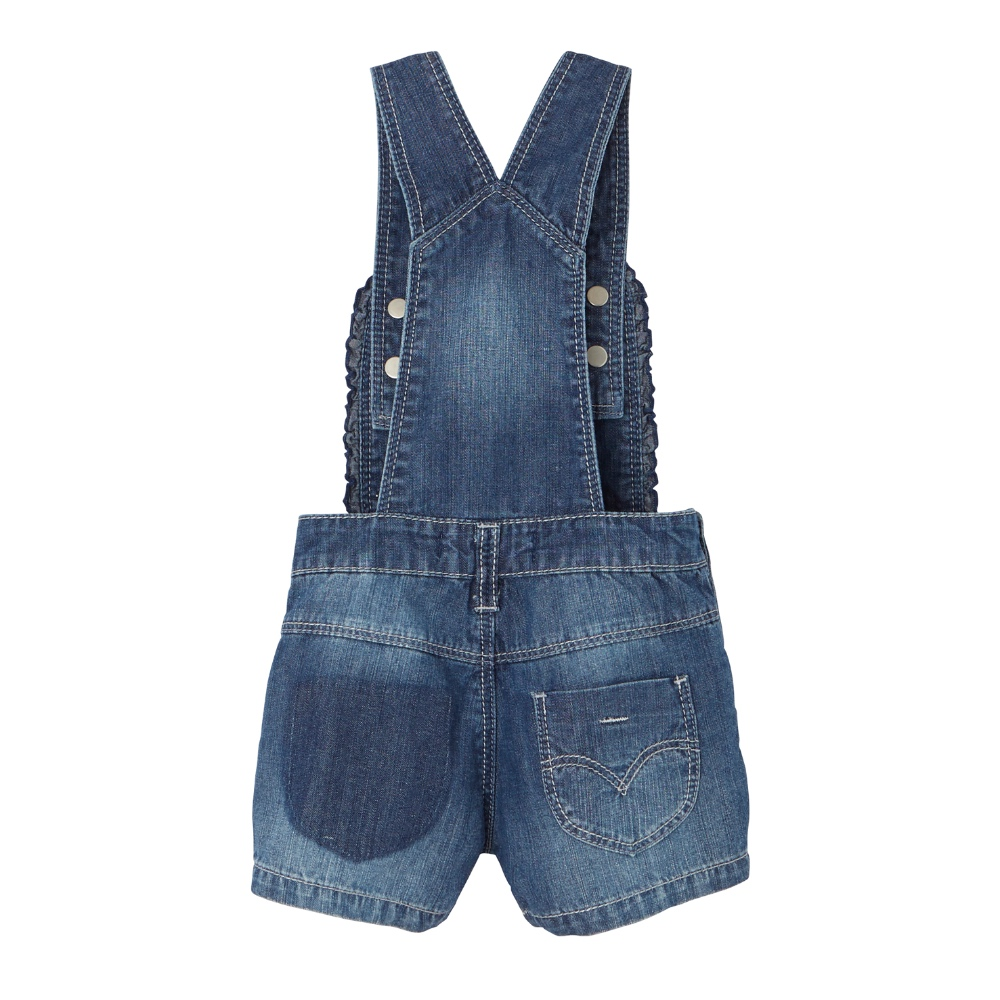 Levi's Baby Girls Denim Dungaree Shorts