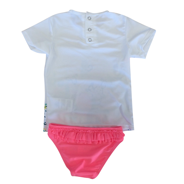 3 Pommes Baby Girls Pink Swimsuit.