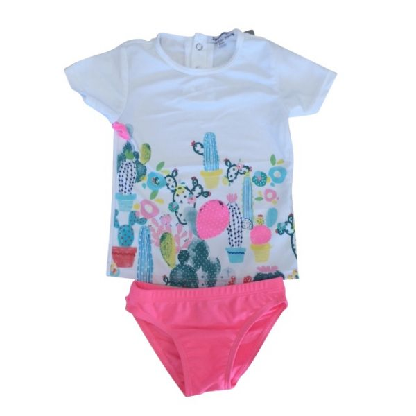 3 Pommes Baby Girls Pink Swimsuit