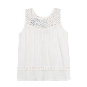 3 Pommes Girls Ivory Sleeveless Summer Top