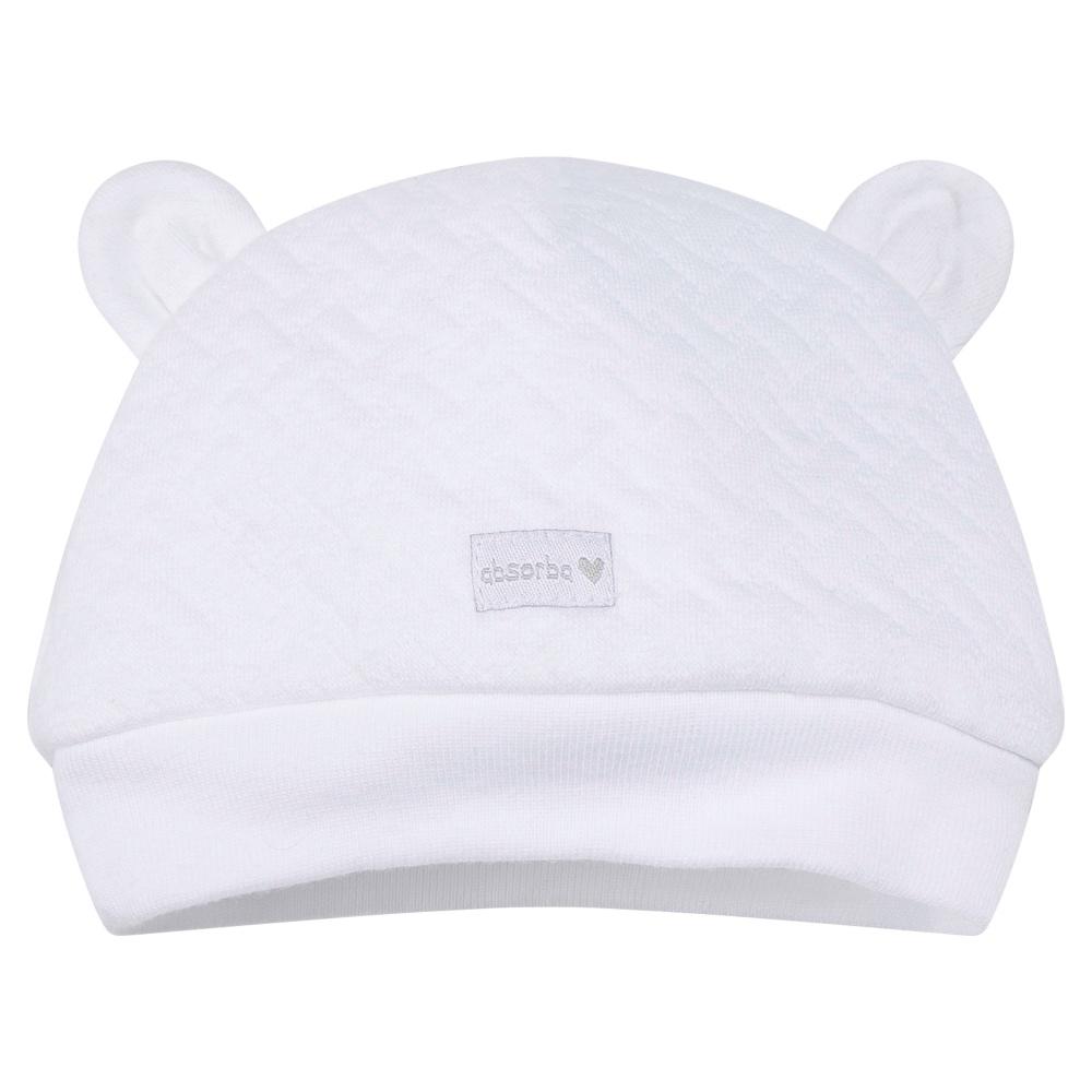 Unisex White Baby Hat