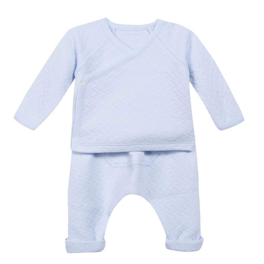 dfc29cfc44f7 Absorba Baby Boys Blue Top   Pants Set