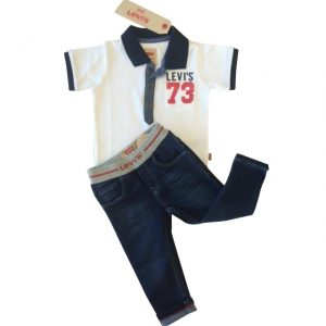 Levi's Baby Boys Top & Jeans Set