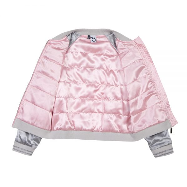 3 Pommes Girls Pink Bomber Jacket
