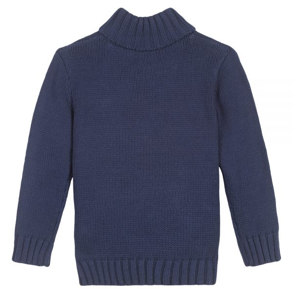 3 Pommes Boys Navy Blue Knitted Sweater