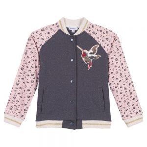 3 Pommes Girls Pink & Grey Jacket