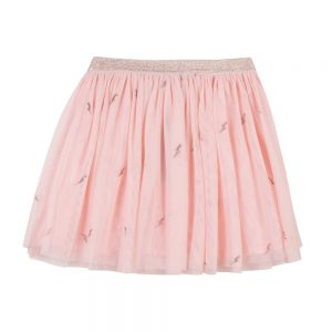 3 Pommes Girls Pink Tulle Skirt