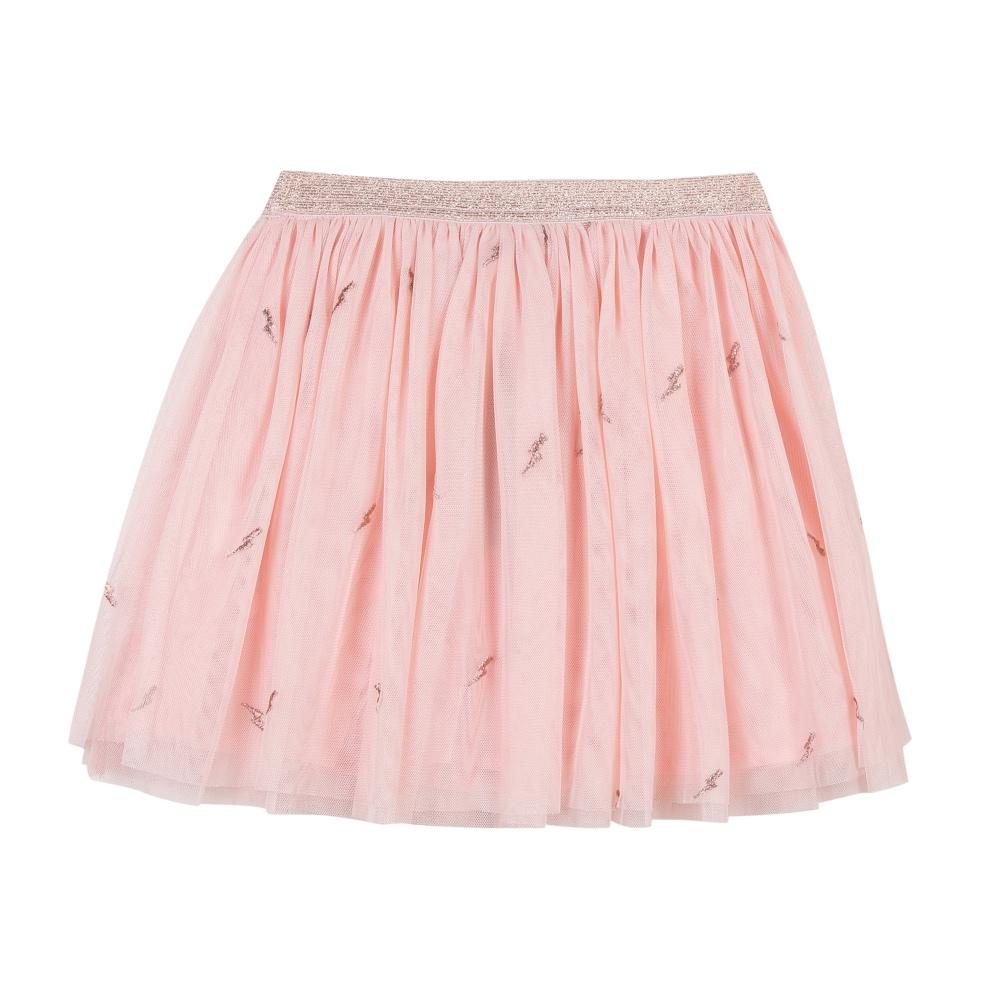 3 Pommes Girls Pink Tulle Skirt