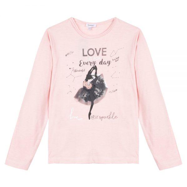 3 Pommes Girls Pink Ballerina T-shirt