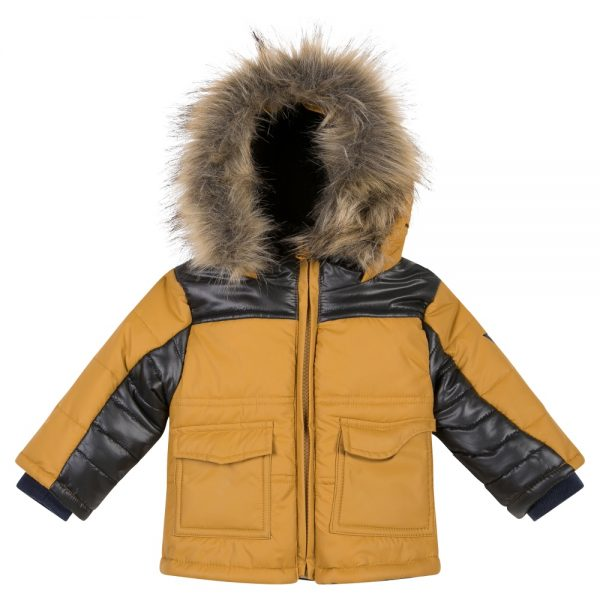 3 Pommes Boys Winter Coat With Fur Hood