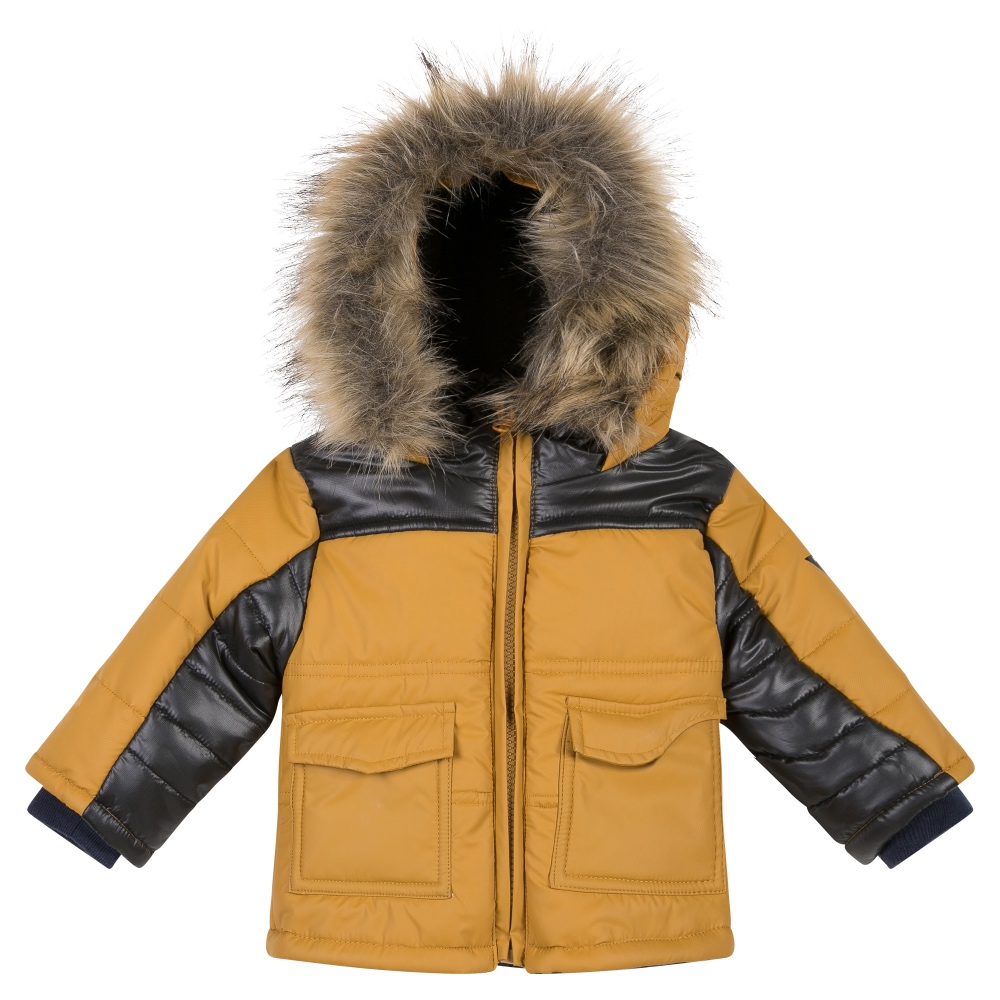3 Pommes Boys Winter Coat With Fur Hood | Bumpalumpa.com