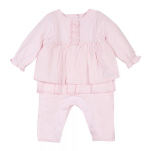 3 Pommes Baby Girls Pink All In One