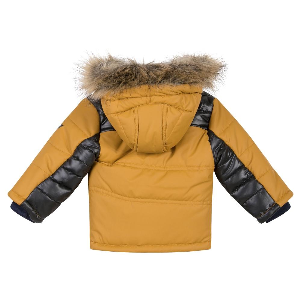 3 Pommes Boys Winter Coat With Fur Hood