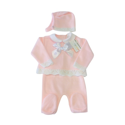 Baby Girls Pink Knitted Set