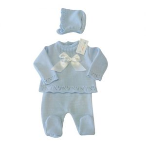 Baby Blue Knitted 3 Piece Set