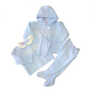 Baby Boys Blue Snowflake Outfit