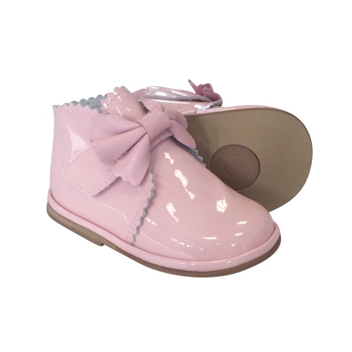 Borboleta Girls Pink Patent Leather Shoes