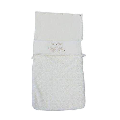 Unisex Ivory Fleece Baby Pram Nest