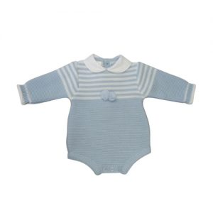 Baby Boys Blue Spanish Romper