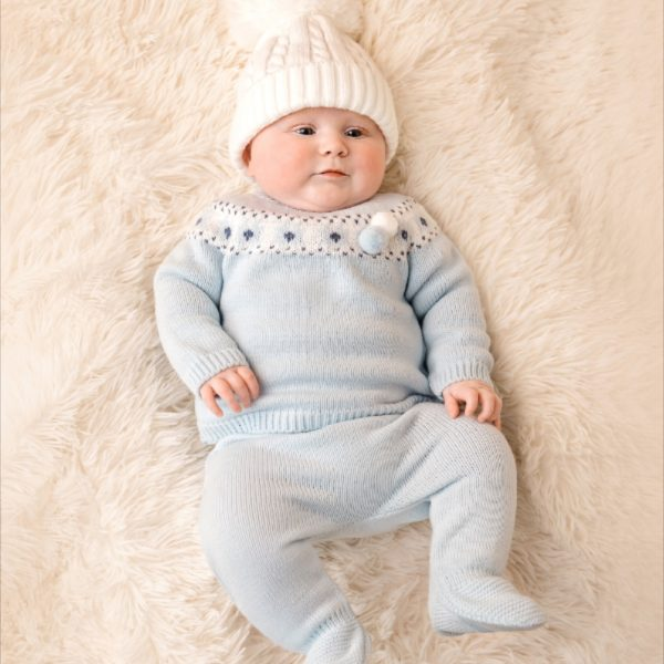 Mintini Baby Boys Blue Knitted Set