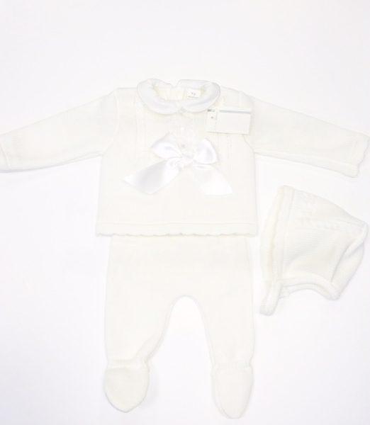 Newborn Baby White Knitted Set